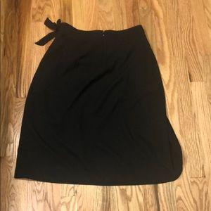 J Crew Black Tulip Wrap Skirt Style J0908
